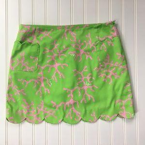 Lilly Pulitzer pink/green skort SIZE 2